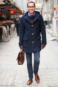 Duffle coat, urban men's fashion, Men's style fall 2014 elegant look