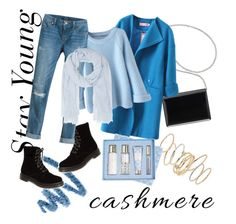"""""""Blue Youngsters Cashmere"""" by dafa-yuvi ❤ liked on Polyvore featuring Yves Saint Laurent, Dr. Martens, BP., Nine West, White House Black Market, Juvia and Vera Bradley"""