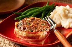 Mini pains de viande au bacon et au fromage cuisinés à l'avance