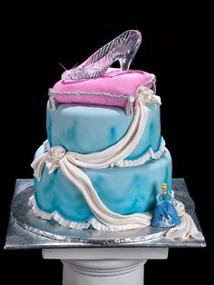 Cinderella's Glass Slipper as a Cake Topper - Inspired By Dis