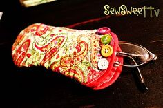DIY glasses case.. quick and easy! http://sewsweettv.blogspot.com/2011/09/quilted-sunglass-case.html