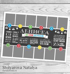 """Natalya Stolyarova Design: МЕТРИКА-ПОСТЕР """"МОЙ ПЕРВЫЙ ДЕНЬ РОЖДЕНИЯ"""""""