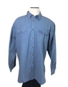 4b2a3d82cdc Guide Series By Gander Mountain Blue Denim Shirt. This is a brushed cotton  denim shirt Medium Weight.