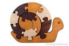 Rompecabezas de madera rompecabezas, rompecabezas de madera de caracol, caracol de madera
