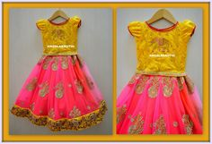 Angalakruthi-Kids frock with Elephant hand embroidery-mobile:8884346333