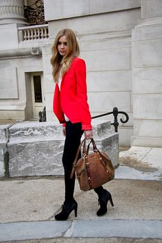red/coral blazer