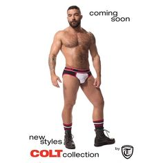 COLT Man Brian Maier modeling for our all-new COLT Collection coming out next week @ www.COLTcollection.com
