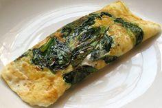 Omelet met baby spinazie - Koolhydraatarmerecepten.info