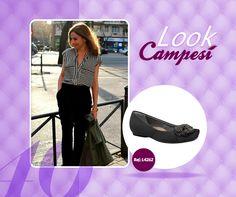 Um look para o trabalho + Campesí = você linda e profissional. #lookCampesí #sapatilha #moda #verão #sapatos