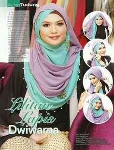 Multiple layer hijab....