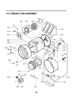 LG Washer WM2050CW Parts List