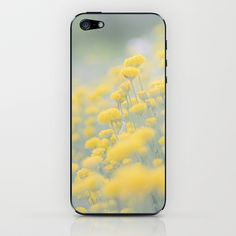 Small Yellow Flowers iPhone & iPod Skin by Richard Torres Photo - $15.00