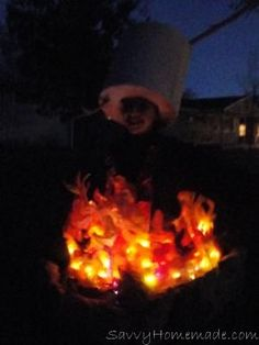 What's a great ghost story without the glow of a wicked campfire? We spooked up our Halloween by making our 12 year old daughter into a walking ring of fire which set the scene for the perfect night of fright.