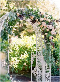 Zili & Joseph: A Thornewood Castle Wedding in Seattle - The Ganeys Wedding Ceremony Floral Arch, Wedding Arbors, Garden Wedding, Summer Wedding, Wedding Venues, Wedding Design Inspiration, Groom And Groomsmen Attire, Floral Hair, Wedding Designs