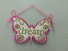 """Dream"" sign handcrafted by adults with intellectual and developmental disabilities."