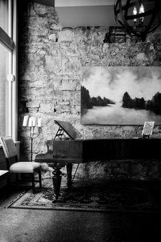Photo# interior# black and white