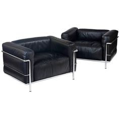 """Le Corbusier LC03 """"Le Grand Comfort"""" Lounge Chairs"""