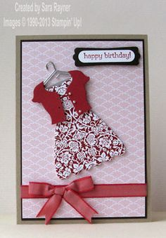 Twitterpated birthday dress - Stampin' Up!