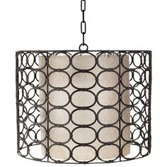 The beat goes on in a unique twist on an old classic with this vintage-inspired oval pattern handmade out of weathered gray colored rattan and iron, and reinvented into a modern drum-shaped hanging lamp. It is the perfect natural element in a contemporary room or to update a traditional porch. This lamp is as versatile as it is beautiful.