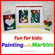 Painting with Marbles. What a fun kid craft!     wesens-art.blogspot.com