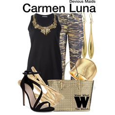 Inspired by Roselyn Sanchez as Carmen Luna on Devious Maids.
