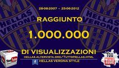 1 MILIONE DI VISUALIZZAZIONI SU YOUTUBE  www.hellasveronastyle.eu