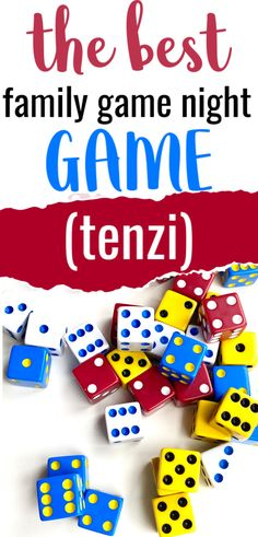 Tenzi is one of those fun games that works for almost all ages which is why it's one of our top recommendations (ultimate) family night games. Family Games For Kids, Learning Games For Kids, Family Game Night, Family Family, Teamwork Games, Couple Games, Dice Games, Fun Activities, Activity Ideas