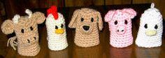 Farmyard Finger Puppets   http://www.allfreecrochet.com/Toys/Farmyard-Finger-Puppets/ml/1