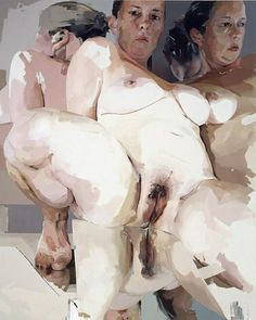 i seriously have a crush on JENNY SAVILLE Reflective Flesh, 2003 Oil on canvas 120-1/8 x 96-1/16 inches (305.1 x 244 cm)