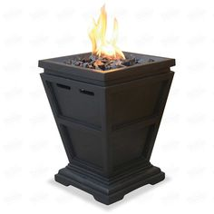 Free Standing Electric 1500W Fireplace Heater Fire Flame Stove