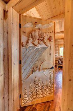 Mountain Top Manor – $5,765,900 Carved Door