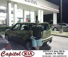#HappyAnniversary to Brian Soria on your 2013 #Kia #Soul from Marcus Benitez at Capitol Kia!
