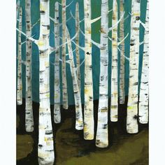 Lisa Congdon I love birch trees. I'd love a piece of art that looks like this in my home