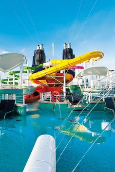 Norwegian Epic Waterpark--been on these slides!!!