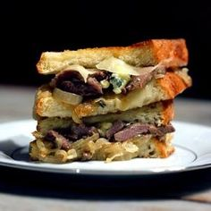 Steakhouse Grilled Cheese Sandwich with Caramelized Onions