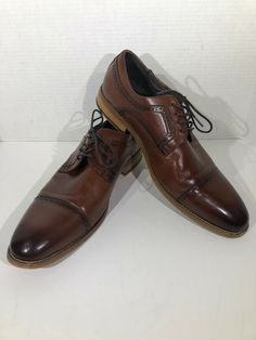 8de2c6277f0 Brown Leather Oxford Cap Toe 5 Hole Lace Up All of our footwear are cleaned  with anti-bacterial wipes for your health and safety!