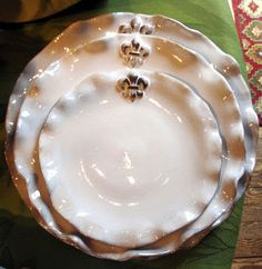 Italian hand-made plates - wouldn't it be fun designing a table setting around these?