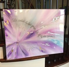 28 x 22  Let Go  coated with resinany size  by SarahKKreations