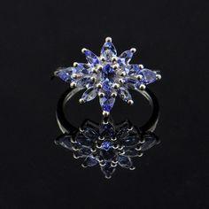 Multi Gemstone Tanzanite Ring