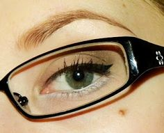 A couple of makeup tips for people that wear glasses