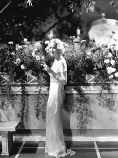 Miriam Hopkins wearing a dress by Travis Banton in a promo for Design for Living (Ernst Lubitsch, 1933), a pre-Code comedy with Fredric March and Gary Cooper