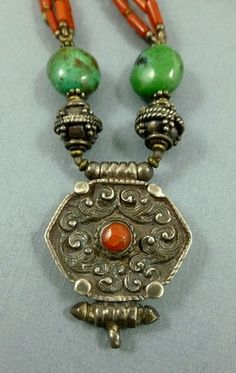 Tibetan Style Necklace by SmallWorldTreasures on Etsy