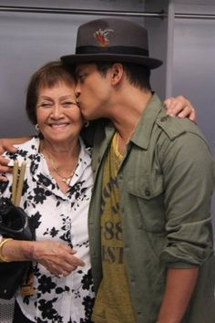 Bruno and his granny. Awe that's so cute