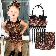 >> Click to Buy << Leopard Baby Girls Toddler Clothes Set Casual Tops+Shorts Pants 2pcs Outfits Summer Set #Affiliate