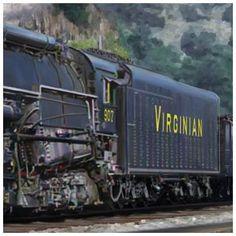Virginian Blue Ridge Super power 2-6-6-6 Train Tracks, Train Rides, Old Trains, Vintage Trains, Chattanooga Choo Choo, Steam Turbine, Hell On Wheels, Norfolk Southern, Train Pictures