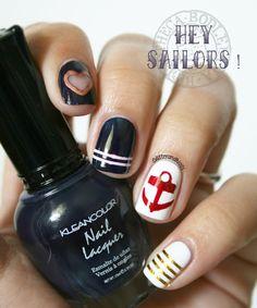 Hey Sailors ! Nail art pour l'Armada de Rouen