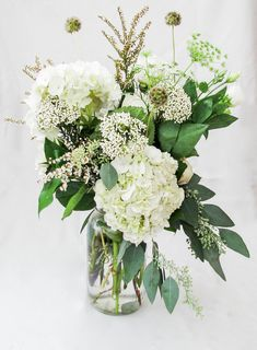 Rice Flower Queen Anne S Lace Lisianthus Scabiosa Pods Seeded Eucalyptus And Calcynia Countryside Nursery Crystal Lake