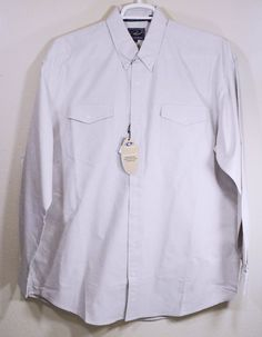 Roper Mens Shirt XL Tan Long Sleeves Button Front 100% Cotton Tweed #Roper #ButtonFront
