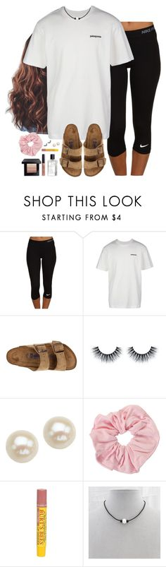 """""""❤️"""" by aweaver-2 ❤ liked on Polyvore featuring NIKE, Patagonia, Birkenstock, Honora, Burt's Bees and Bobbi Brown Cosmetics"""