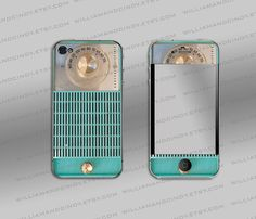 Iphone cover - Vintage turquoise Radio
